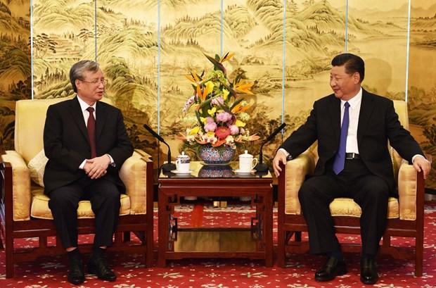 Dirigente partidista de Vietnam se reune con Xi Jinping hinh anh 1