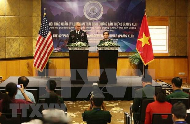 Inauguran en Hanoi Seminario sobre la gestion de los ejercitos del Pacifico hinh anh 1