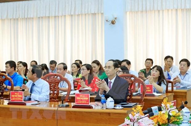 Destacan vida y obra de expresidente de Vietnam Ton Duc Thang, comunista ejemplar hinh anh 1
