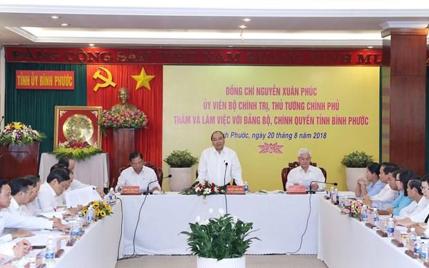 Premier de Vietnam insta a provincia de Binh Phuoc a desarrollar sector privado hinh anh 1