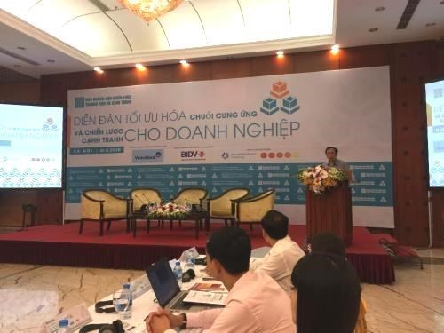 En Hanoi foro analiza la optimizacion de cadena de suministro para empresas hinh anh 1
