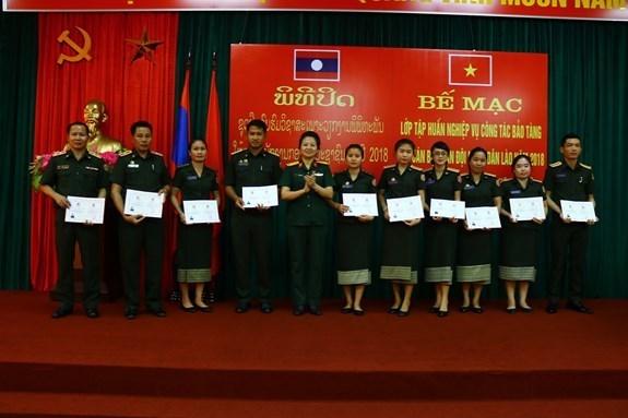 Vietnam y Laos cooperan en capacitacion del personal sobre museografia hinh anh 1