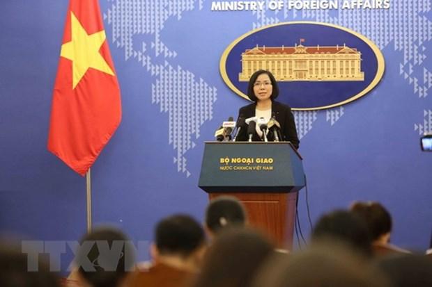 Vietnam exige fin de ejercicios militares en isla Ba Binh en archipielago Truong Sa hinh anh 1