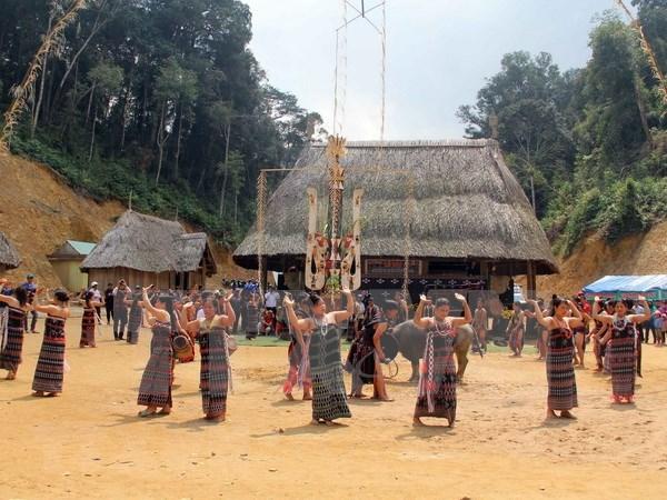 Provincia vietnamita revive la arquitectura tradicional del grupo etnico Co Tu hinh anh 1