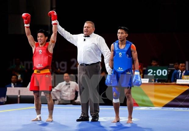 Wushuista vietnamita gana una medalla de plata en Juegos Asiaticos hinh anh 1