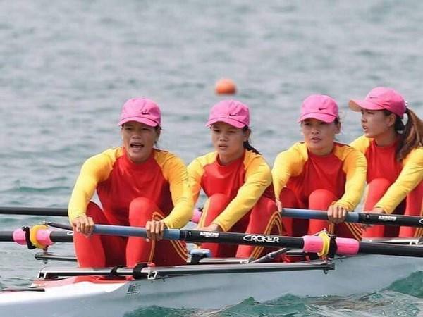 Equipo de remo entrega primera medalla de oro a Vietnam en Juegos Asiaticos hinh anh 1