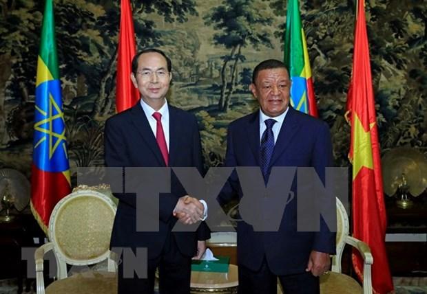 Vietnam y Etiopia debaten medidas para agilizar lazos multifaceticos binacionales hinh anh 1