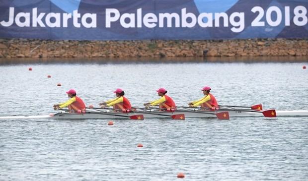 Equipo de remo gana otra medalla a Vietnam en Juegos Asiaticos hinh anh 1