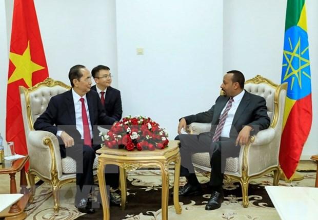Vietnam y Etiopia acuerdan fomentar intercambio de contactos en todos los canales hinh anh 1