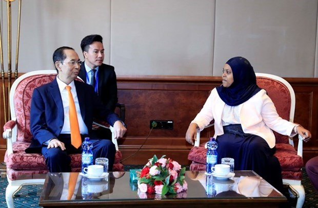 Presidente de Vietnam propone aumentar cooperacion parlamentaria con Etiopia hinh anh 1