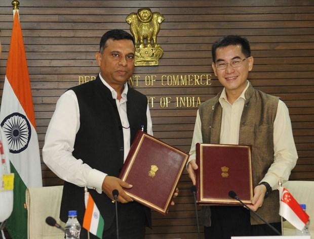 India y Singapur firman segundo protocolo de modificacion de acuerdo de cooperacion economica hinh anh 1