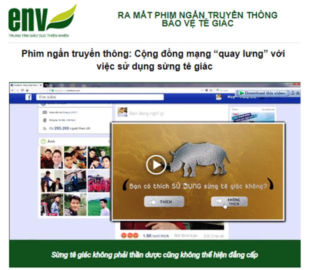 Vietnam estrena cortometraje sobre proteccion de rinoceronte hinh anh 1