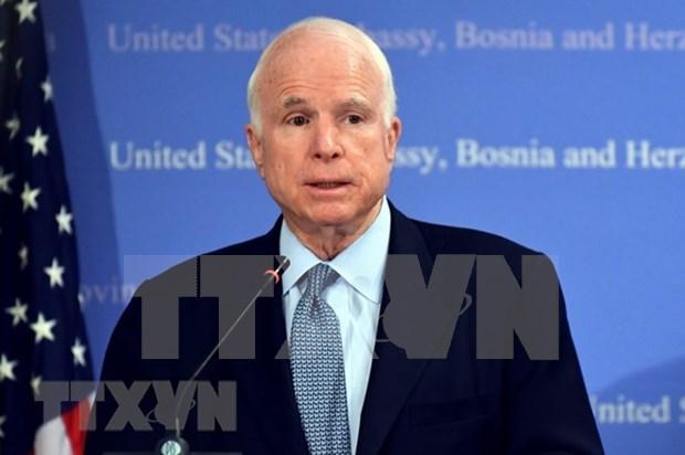 Embajada estadounidense en Vietnam abrira manana libro de condolencias por el senador John McCain hinh anh 1
