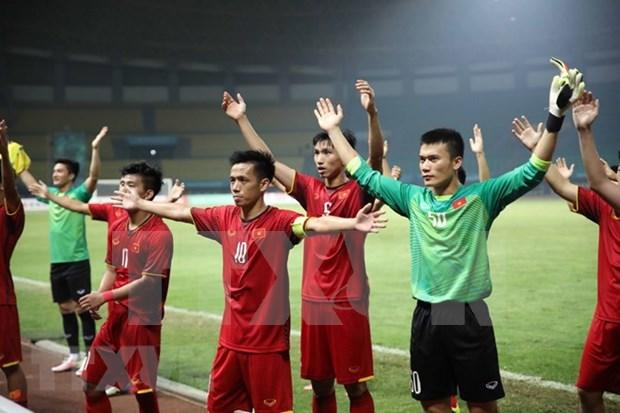 Periodicos de Asia elogian racha victoriosa de futbol vietnamita en ASIAD 2018 hinh anh 1