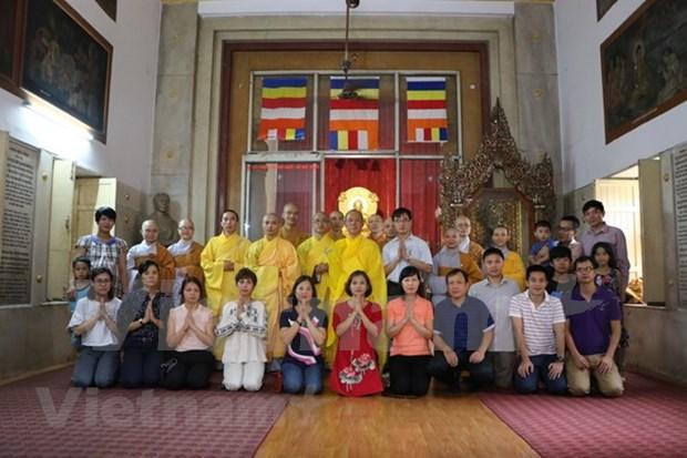 Comunidad vietnamita en India celebra ceremonia budista de Vu Lan hinh anh 1