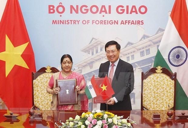 Efectuan en Hanoi reunion del Comite mixto Vietnam-la India hinh anh 1