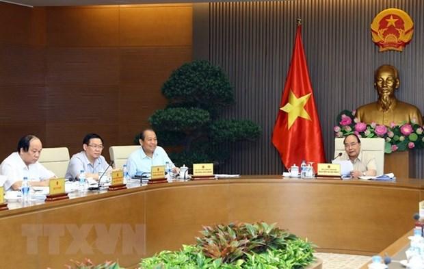 Comite permanente del gobierno de Vietnam discute situacion socioeconomica hinh anh 1