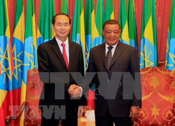 Presidente de Vietnam concluye con exito gira por Etiopia y Egipto hinh anh 1
