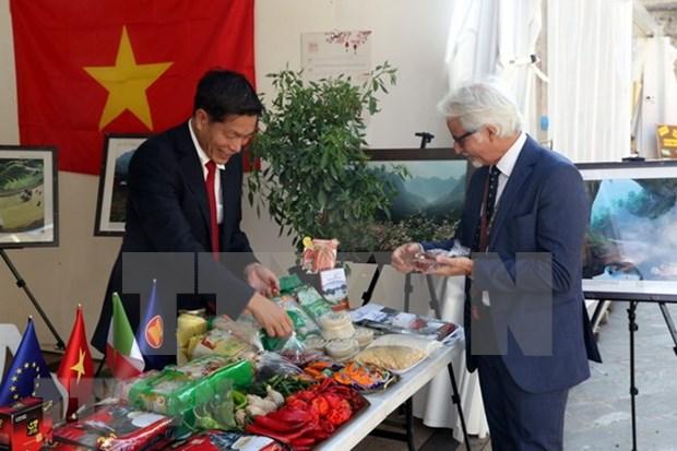 Productos agricolas de Vietnam presentes en la Feria Internacional de chile en Italia hinh anh 1
