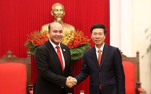 Federaciones juveniles de Vietnam y Camboya profundizan cooperacion hinh anh 1