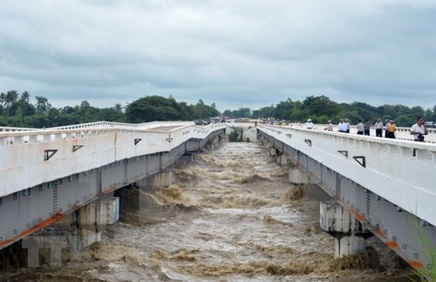 Myanmar reporta dos desparecidos por ruptura de presa y trabaja para atenuar consecuencias hinh anh 1