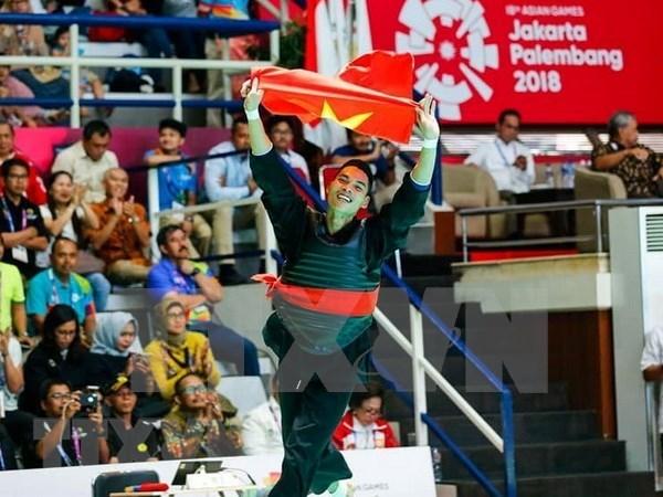 Deportistas vietnamitas enorgullecen a su pais en los juegos continentales hinh anh 1