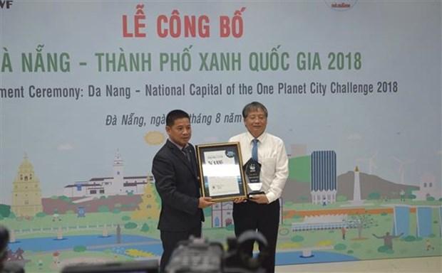 Reconocen a Da Nang ciudad verde de Vietnam en 2018 hinh anh 1