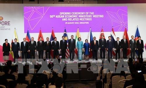 ASEAN se esfuerza por promover su Comunidad Economica hinh anh 1