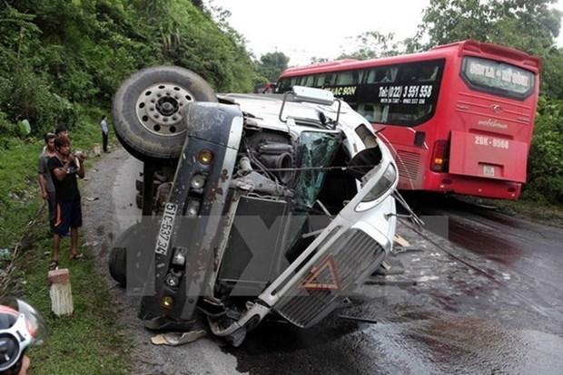 Registran 46 fallecidos en accidentes viales durante dias feriados en Vietnam hinh anh 1