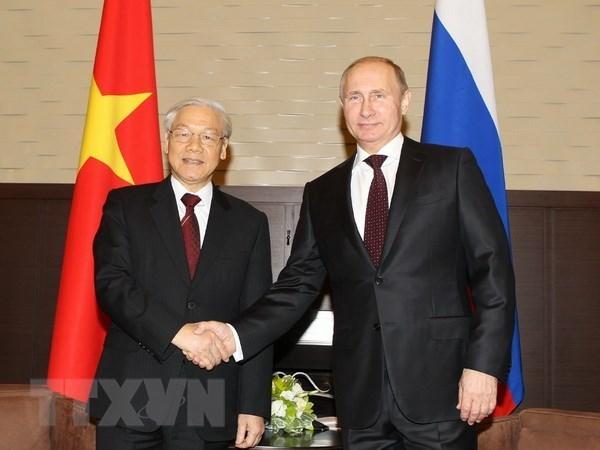 Visita del maximo dirigente partidista vietnamita a Rusia fortalecera confianza politica bilateral hinh anh 1