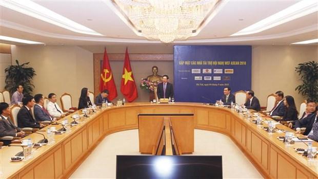 Vicepremier vietnamita destaca respaldo de patrocinadores para la organizacion del FEM-ASEAN hinh anh 1