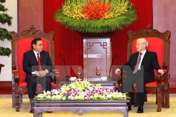 Dirigente partidista vietnamita apoya cooperacion con Frente de Construccion Nacional de Laos hinh anh 1