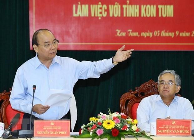 Premier vietnamita insta a provincia de Kon Tum a promover el desarrollo forestal sostenible hinh anh 1
