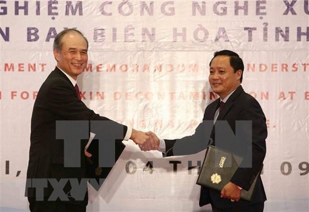 Aplicaran de forma piloto tecnologia de tratamiento de dioxina en aeropuerto vietnamita hinh anh 1