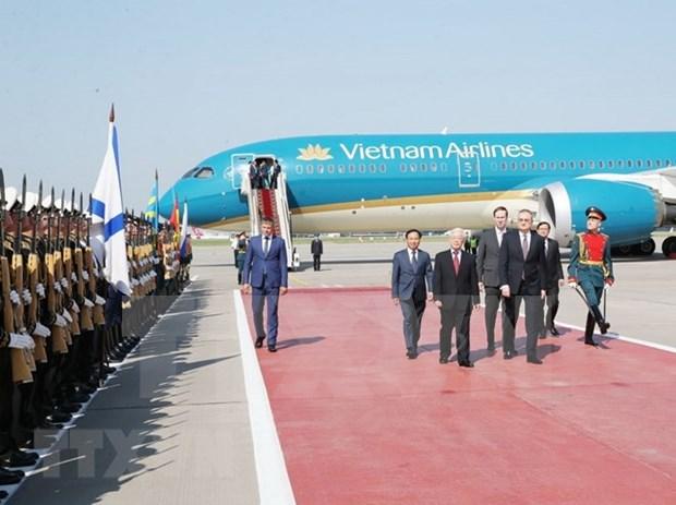 Secretario general del Partido Comunista de Vietnam inicia visita oficial a Rusia hinh anh 1