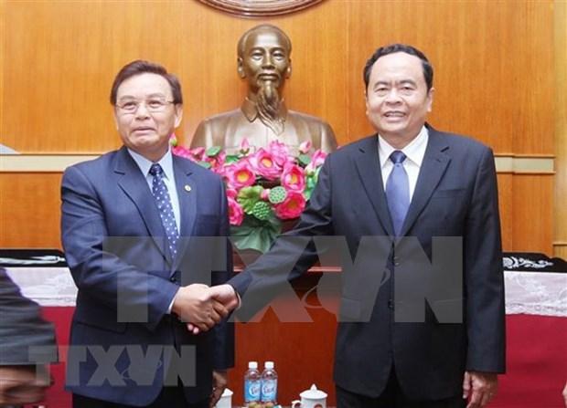 Presidente del Frente laosiano de Construccion Nacional visita Vietnam hinh anh 1
