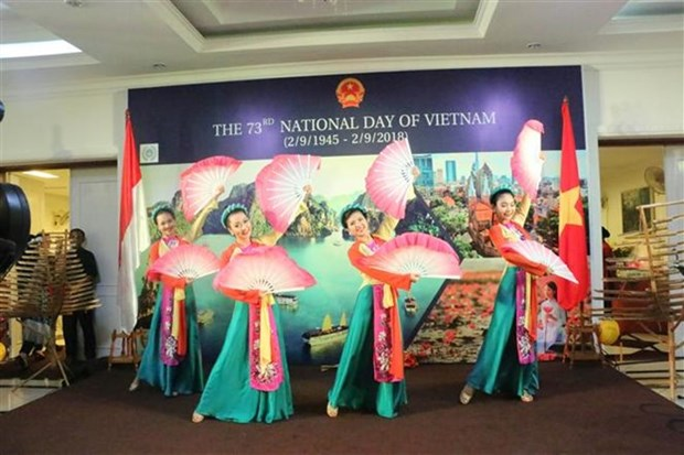 Vietnamitas en Indonesia celebran Dia Nacional hinh anh 1