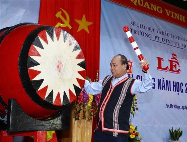 Dirigentes vietnamitas participan en actos de inicio de nuevo curso academico hinh anh 1