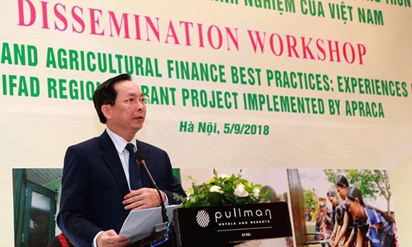 Analizan servicios financieros a favor de agricultura y zonas rurales en Vietnam hinh anh 1
