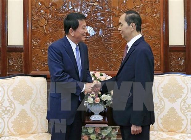 Presidente Dai Quang destaca aportes del embajador especial Vietnam- Japon al fomento de lazos binacionales hinh anh 1