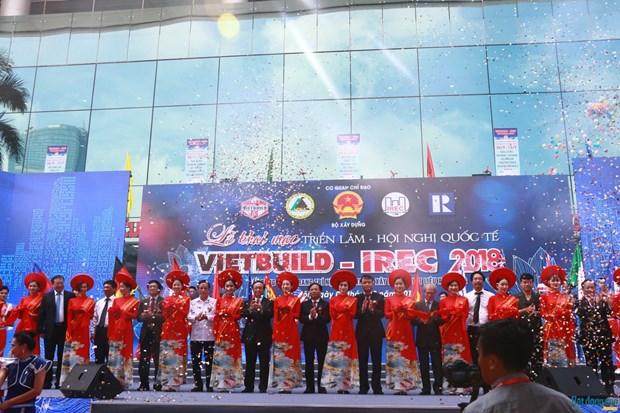 Inauguran exposicion internacional VIETBUILD en Hanoi hinh anh 1