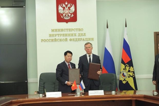 Vietnam y Rusia fortalecen cooperacion en combate contra delincuencia hinh anh 1