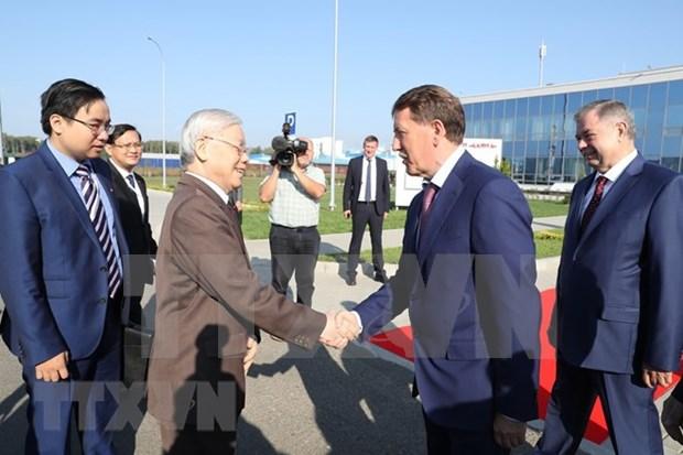 Dirigente partidista de Vietnam visita provincia rusa Kaluga hinh anh 1