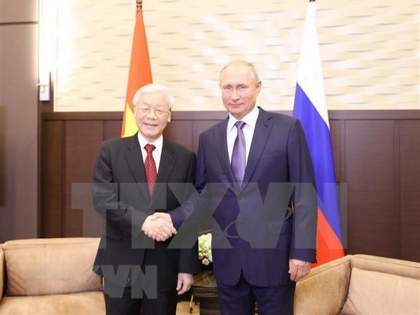 Maximo dirigente partidista de Vietnam concluye visita a Rusia hinh anh 1