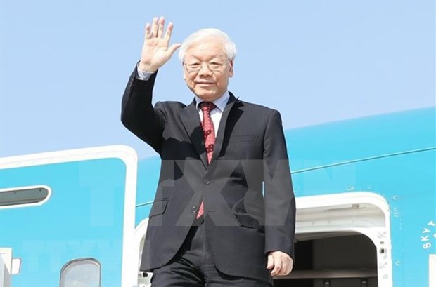 Maximo dirigente partidista de Vietnam viaja a Hungria para visita oficial hinh anh 1
