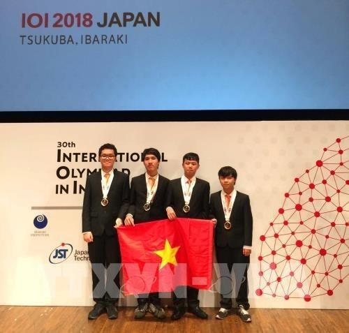 Vietnam gana cuatro medallas en Olimpiada Internacional en Informatica hinh anh 1