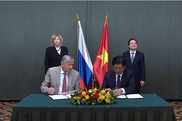 Universidades vietnamitas y rusas firman acuerdos de cooperacion hinh anh 1
