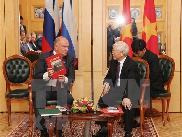 Prensa rusa destaca significado de la visita del maximo dirigente partidista de Vietnam hinh anh 1