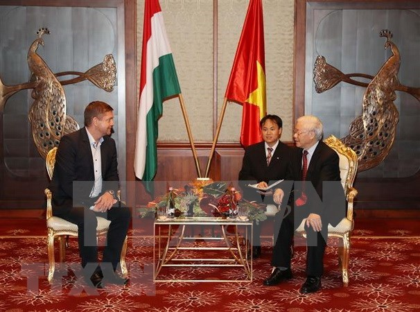 Dirigente partidista de Vietnam recibe a presidente del Partido Socialista de Hungria hinh anh 1