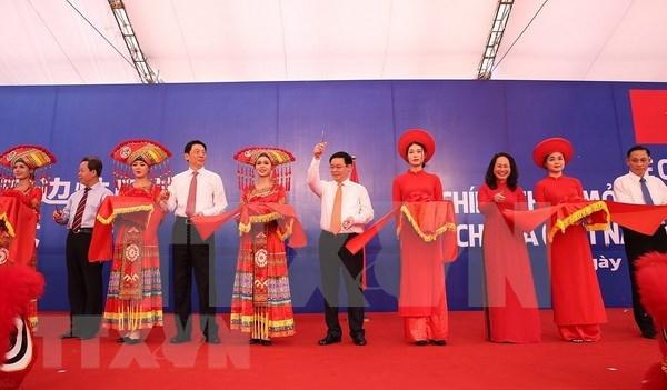 Inauguran el par de puertas fronterizas Chi Ma – Ai Dian entre Vietnam y China hinh anh 1